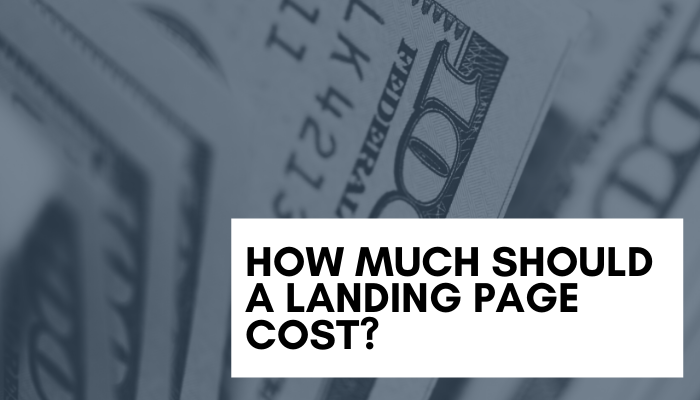 Landing page cost